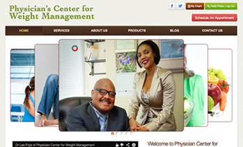 Physician's Center for Weight Management Website